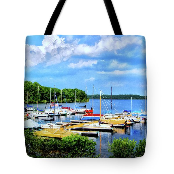 Lake Nockamixon Marina Tote Bag