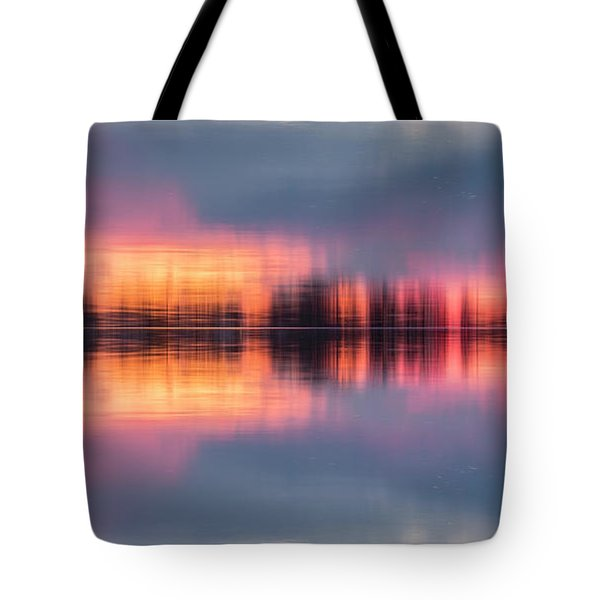 Tote Bag featuring the photograph Lake Norman Sunset by Ronald Santini