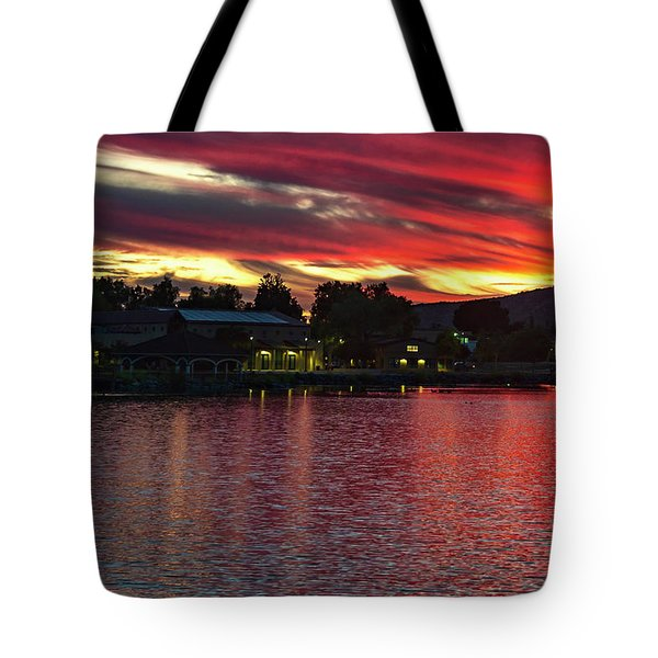 Tote Bag featuring the photograph Lake Of Fire by Dan McGeorge