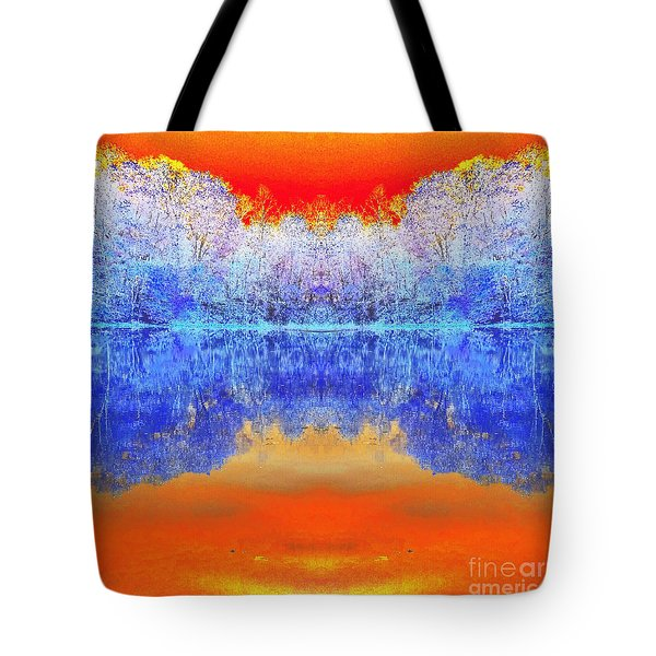 Lake Of Many Colors  Tote Bag