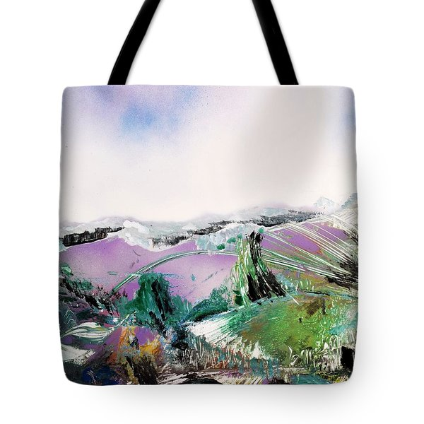 Lake Of The Dawn Tote Bag