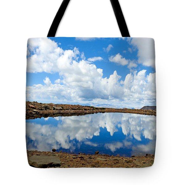 Lake Of The Sky Tote Bag