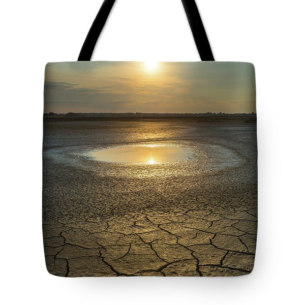 Tote Bag featuring the photograph Lake On Fire by Davor Zerjav