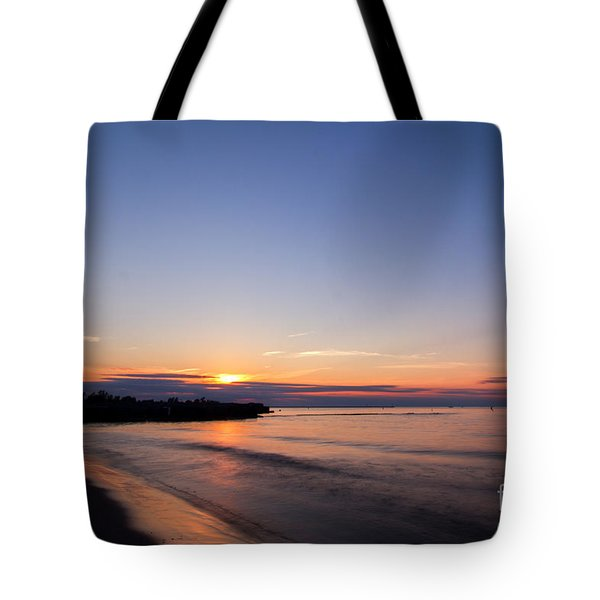 Lake Ontario Beach Sunset Tote Bag