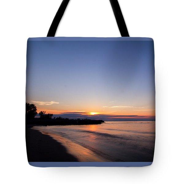 Lake Ontario Beach Sunset Tote Bag