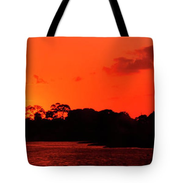 Lake Osborne Sunset Tote Bag