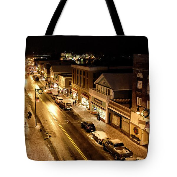 Tote Bag featuring the photograph Lake Placid New York - Main Street by Brendan Reals