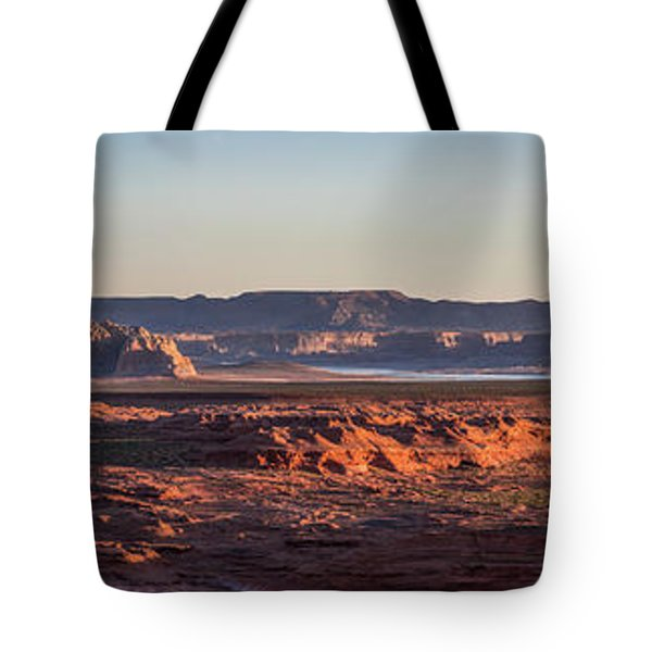Lake Powell Sunrise Panorma Tote Bag