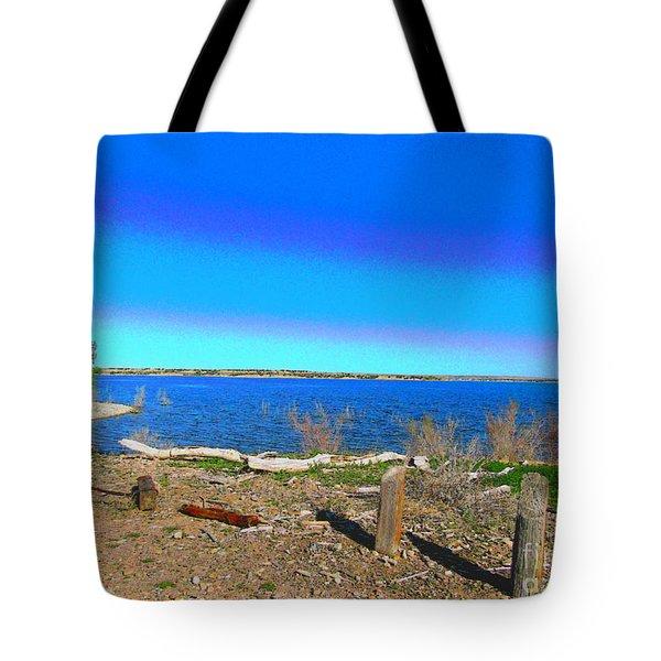 Lake Pueblo Painted Tote Bag