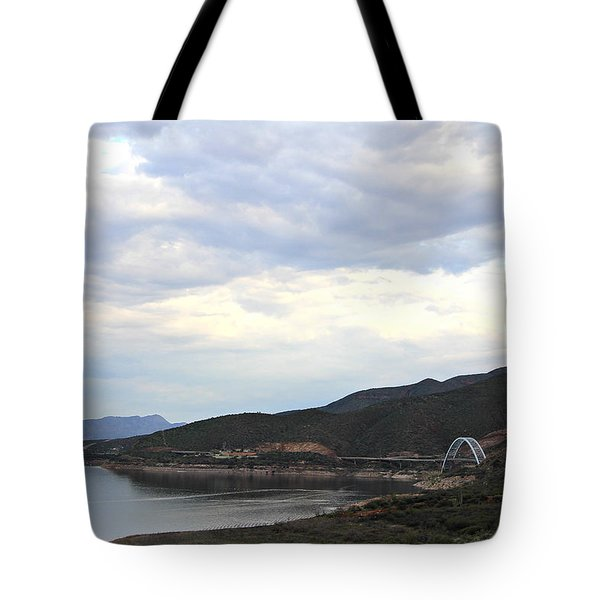 Lake Roosevelt Bridge 1 Tote Bag