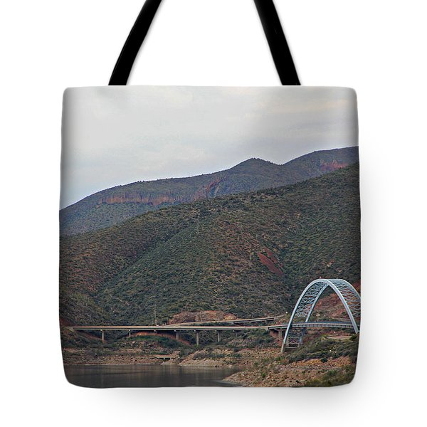 Lake Roosevelt Bridge 2 Tote Bag