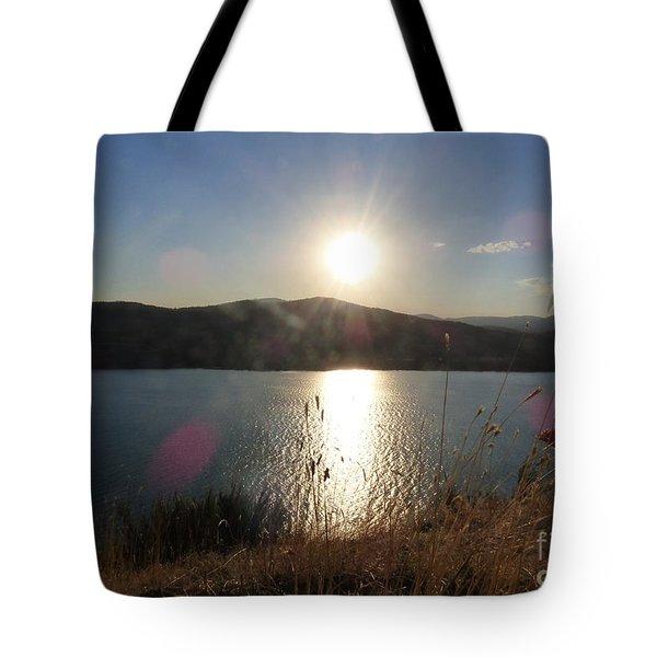 Lake Roosevelt Sun Tote Bag