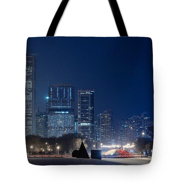 Lake Shore Drive Chicago Tote Bag by Steve Gadomski