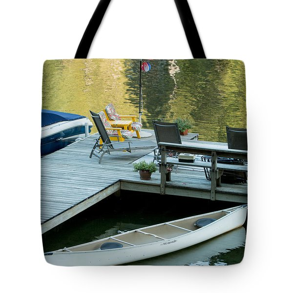 Lake-side Dock Tote Bag