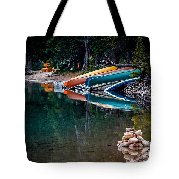 Kayaks At Rest Tote Bag