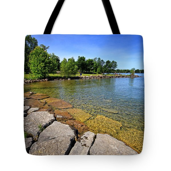 Lake Simcoe Summer Tote Bag by Charline Xia