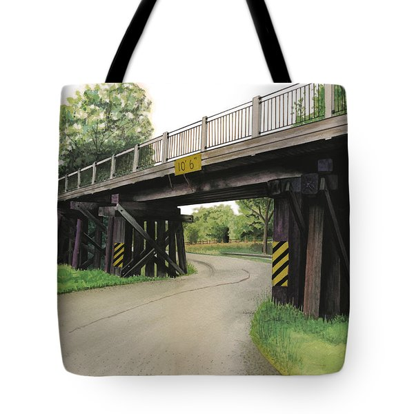Lake St. Rr Overpass Tote Bag