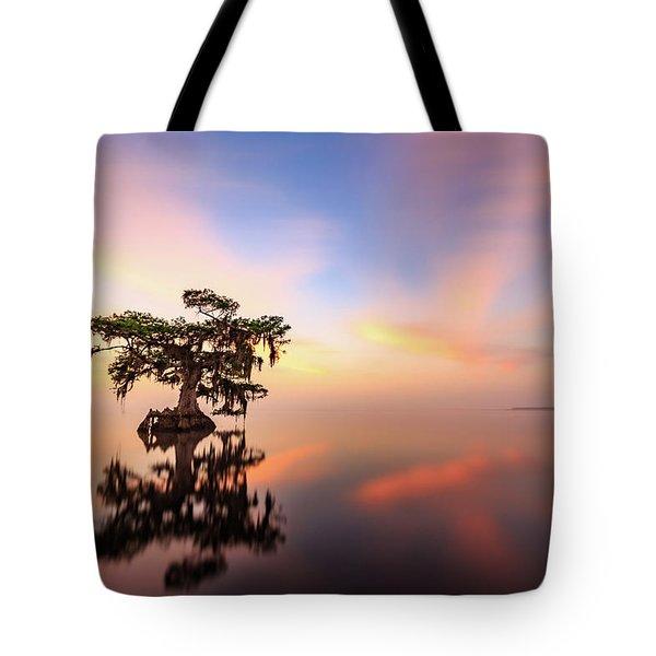 Lake Sunrise Tote Bag