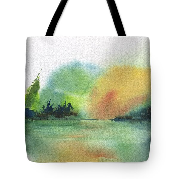 Lake Sunset Tote Bag by Frank Bright