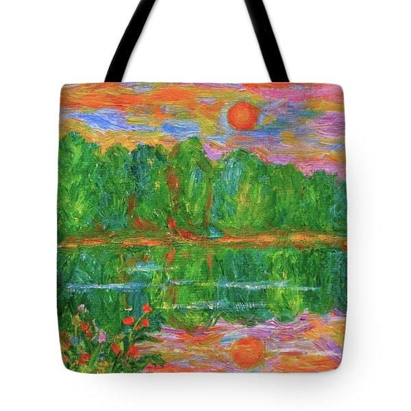 Lake Sunset Tote Bag by Kendall Kessler