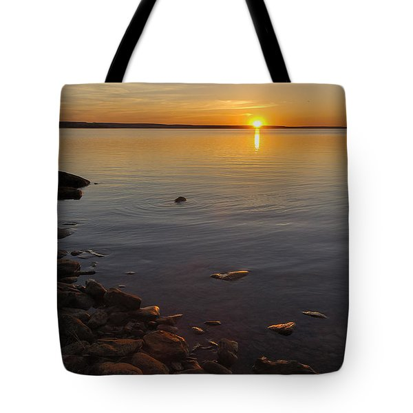 Tote Bag featuring the photograph Lake Sunset by Rob Graham