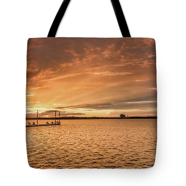 Tote Bag featuring the photograph Lake Sunset by Robert Bellomy