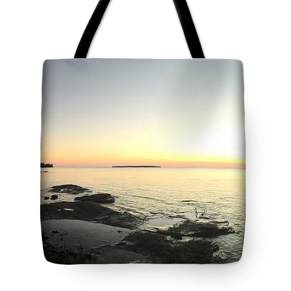 Tote Bag featuring the photograph Lake Superior Evening Sky by Paula Brown