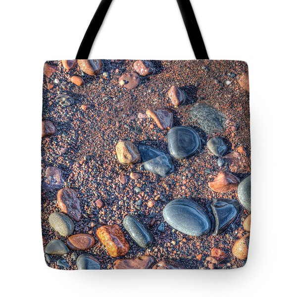Lake Superior Pebbles Tote Bag