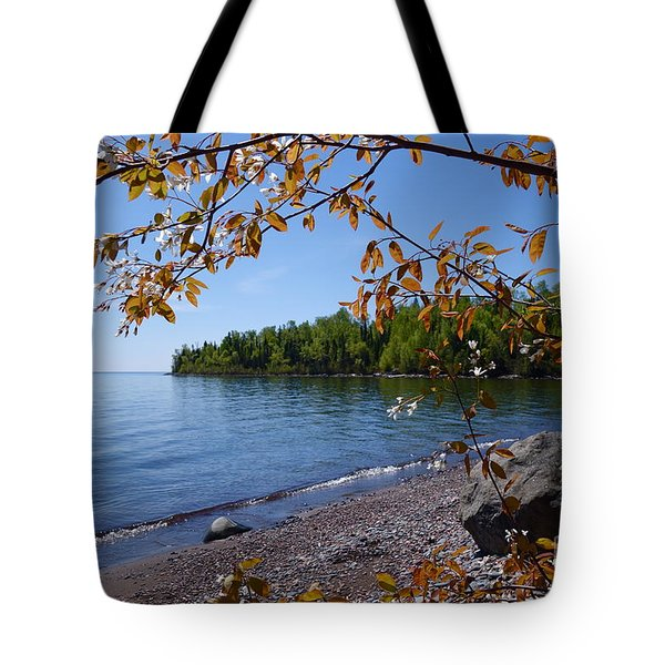 Tote Bag featuring the photograph Lake Superior Serenity by Sandra Updyke