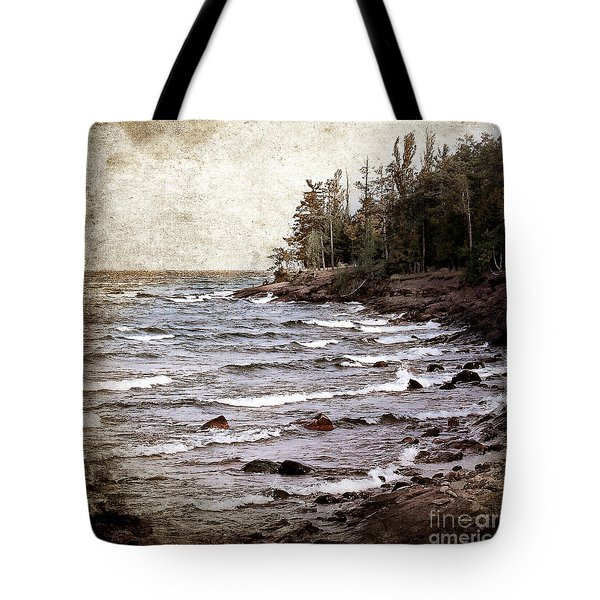 Tote Bag featuring the photograph Lake Superior Waves by Phil Perkins