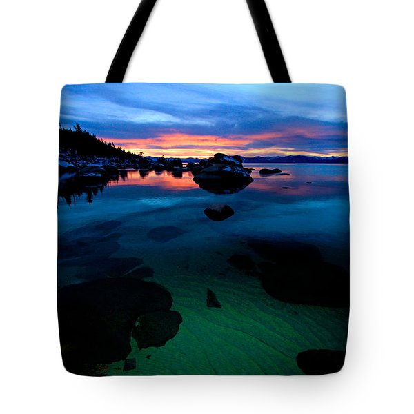 Lake Tahoe Clarity At Sundown Tote Bag