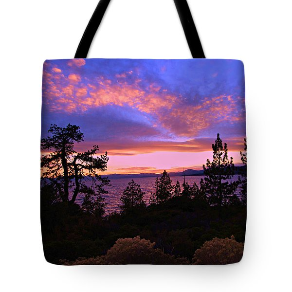 Lake Tahoe Crescendo Tote Bag
