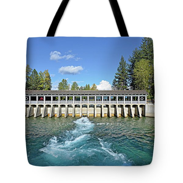 Lake Tahoe Dam Tote Bag