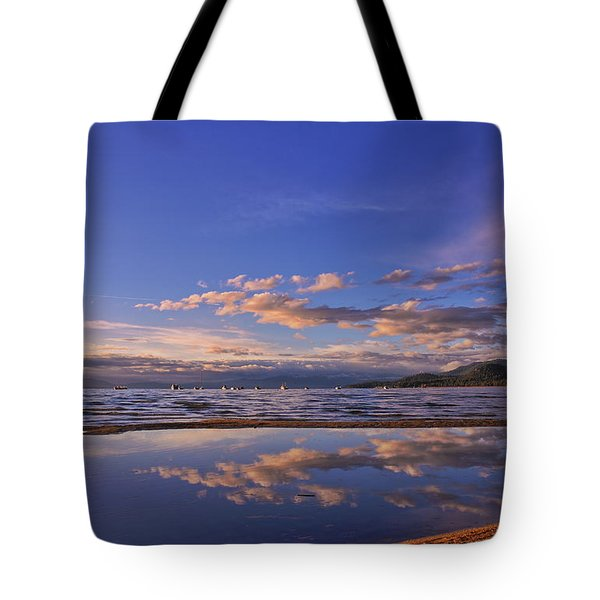 Lake Tahoe Evening Tote Bag