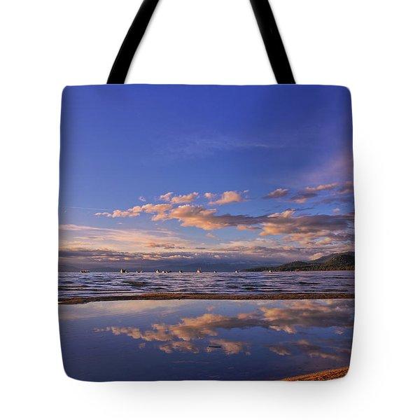 Lake Tahoe Evening Tote Bag