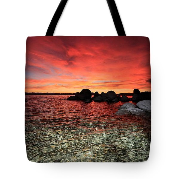 Tote Bag featuring the photograph Lake Tahoe Liquid Dreams by Sean Sarsfield