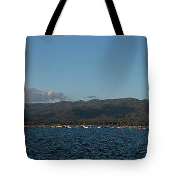 Lake Tahoe Panorama Tote Bag