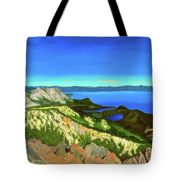 Lake Tahoe Panorama Tote Bag