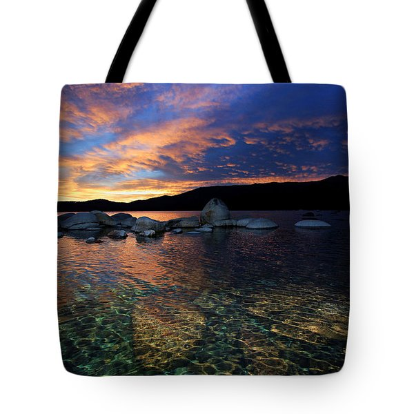 Lake Tahoe Sundown Tote Bag