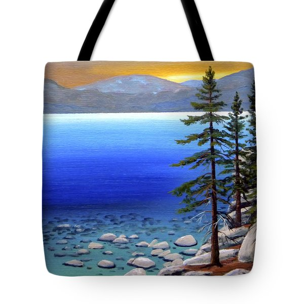 Lake Tahoe Sunrise Tote Bag