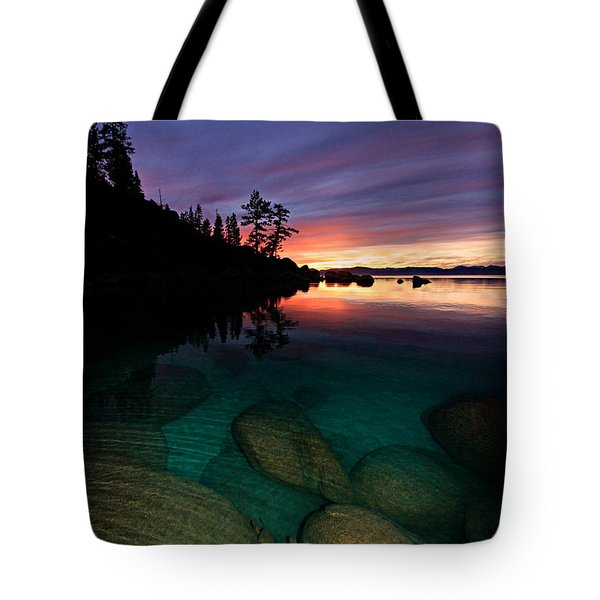 Lake Tahoe Sunset Portrait Tote Bag