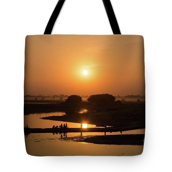 Lake Taungthaman Tote Bag