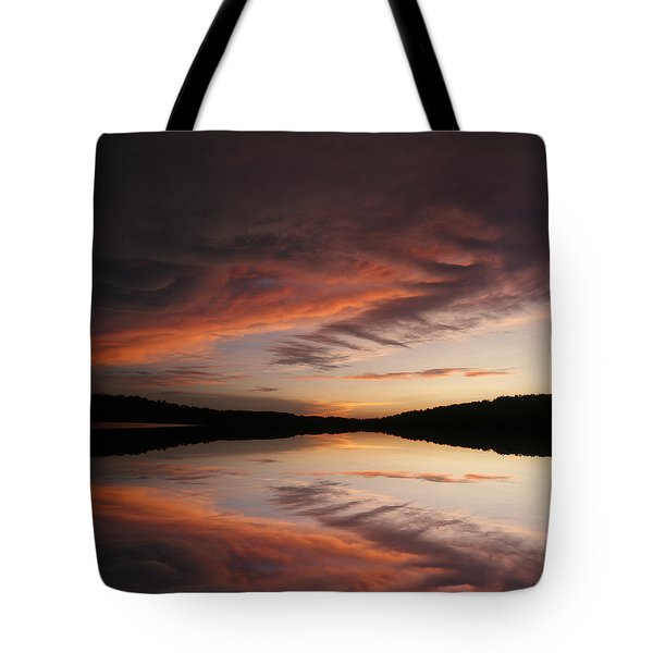 Lake Thunderbird Sunset Tote Bag