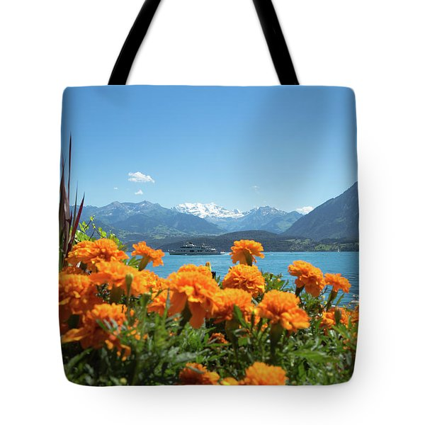 Lake Thunersee Tote Bag