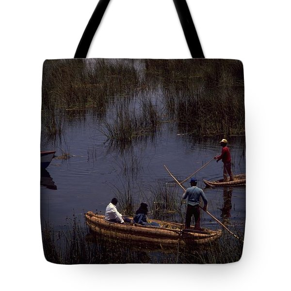 Lake Titicaca Reed Boats Tote Bag