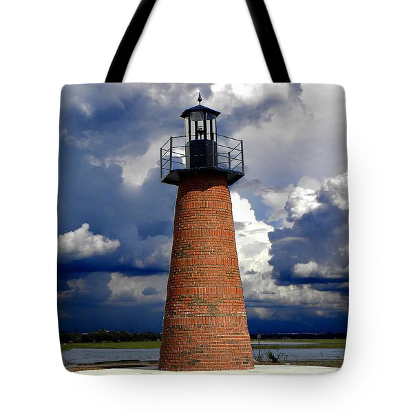 Lake Toho Lighthouse 002  Tote Bag by Chris Mercer