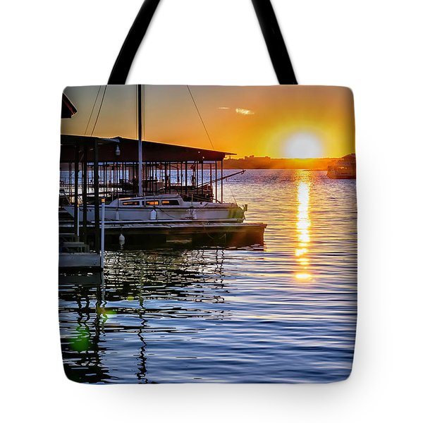 Tote Bag featuring the photograph Lake Travis by Walt Foegelle
