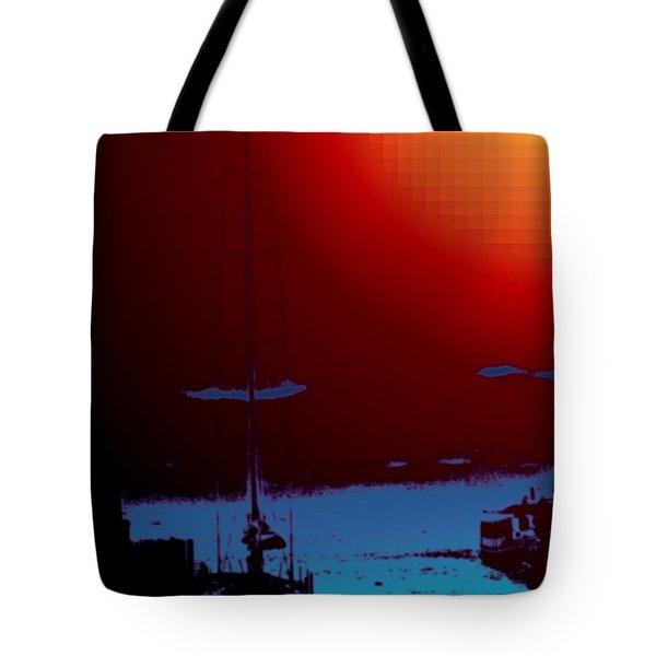 Lake Union Moorage Tote Bag by Tim Allen