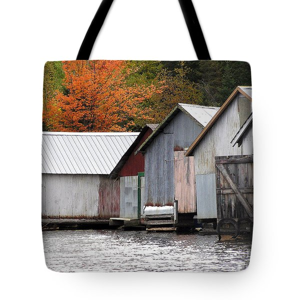 Lake Vermillion Boathouses Tote Bag