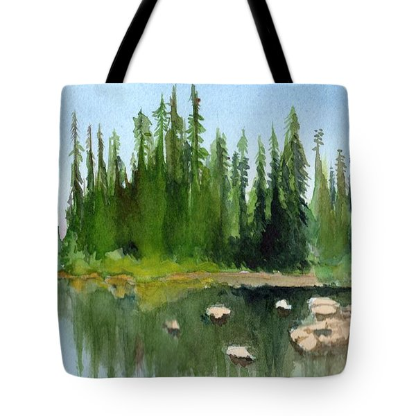 Lake View 1 Tote Bag by Yoshiko Mishina